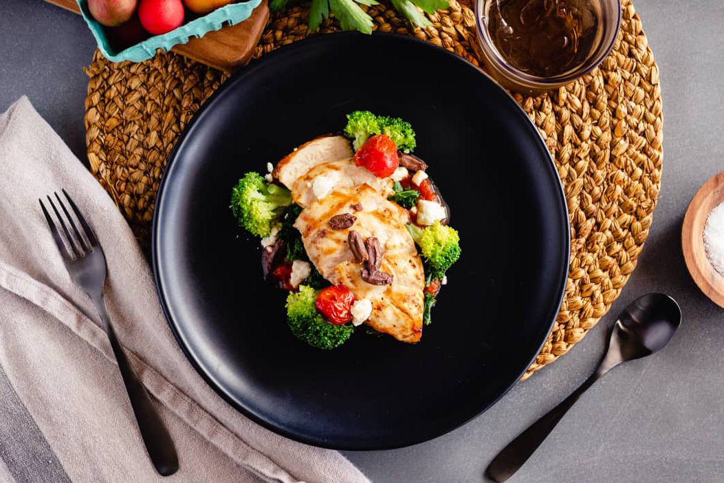 Braised Kale, Greek-Style Grilled Chicken, Steamed Broccoli